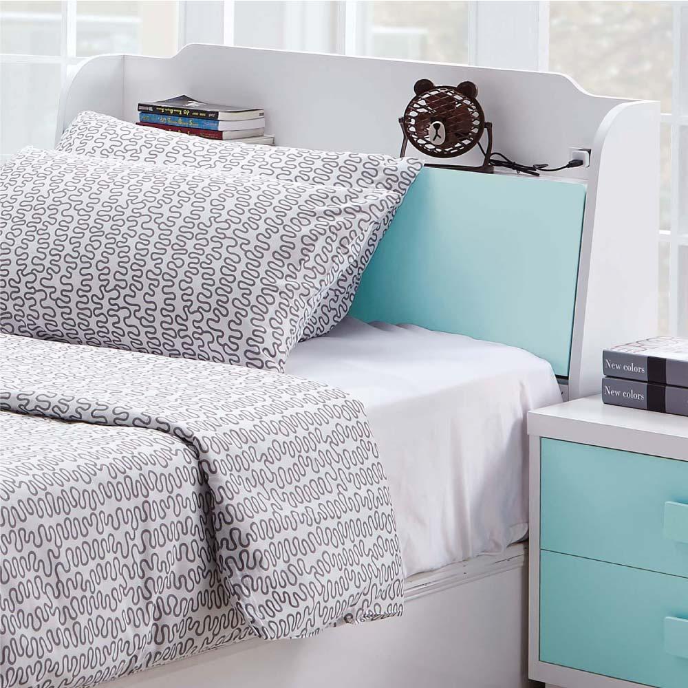 文創集 柯利森時尚3.5尺雙色單人床頭箱(不含床底)-106x24x94cm免組