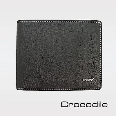 Crocodile 自然摔紋真皮短夾  0203-1104