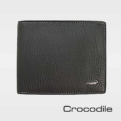 Crocodile 自然摔紋真皮短夾  0203-1101