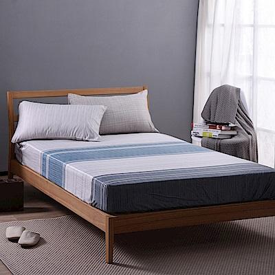 喬曼帝Jumendi-碧藍詩情 專利吸濕排汗天絲加大三件式床包組