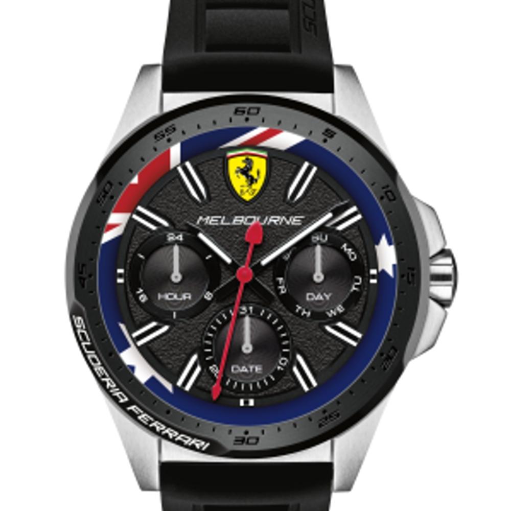 FERRARI 法拉利極勁限量澳洲運動膠帶腕錶