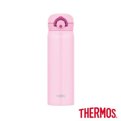 [送凱菲保溫杯] THERMOS膳魔師不鏽鋼真空輕巧變保溫瓶0.5L(JNR-500)-LP(淺粉)