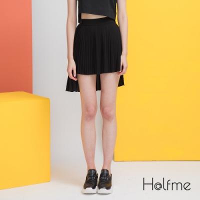 Halfme-2way可拆卸式雪紡百褶裙-女