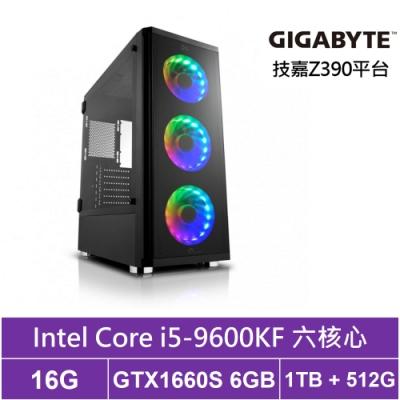 技嘉Z390平台[星空異魂]i5六核GTX1660S獨顯電玩機