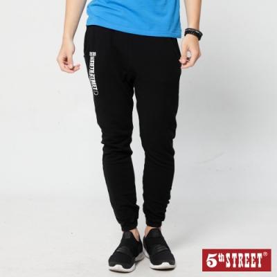 5th STREET 運動棉質 縮口休閒褲-男-黑色