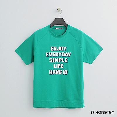 Hang Ten - 男裝 - 簡約配色logo短棉T - 綠