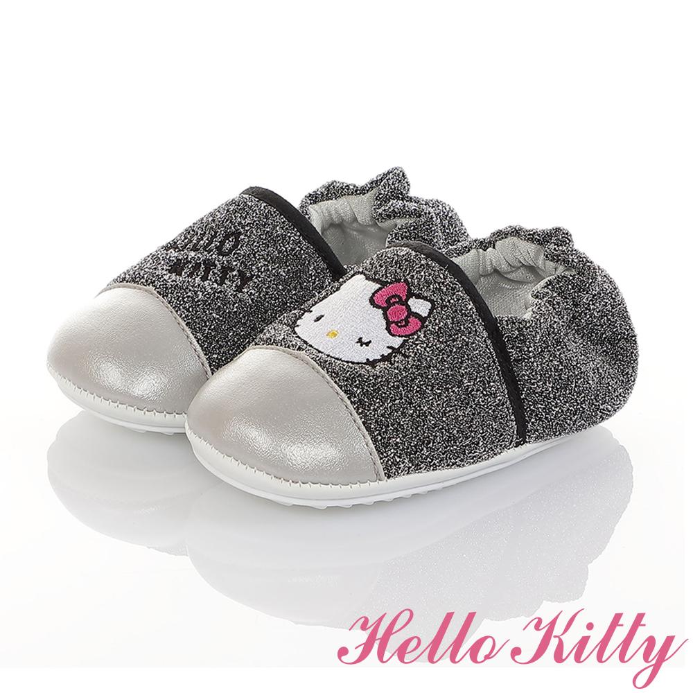 HelloKitty童鞋 金蔥輕量柔軟減壓寶寶學步鞋-銀