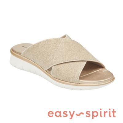 Easy Spirit seSAFFRON2-A 目光焦點交叉布面拖鞋-金銅