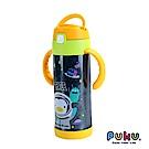 【PUKU】不鏽鋼兩用吸管水瓶350ml_太空藍