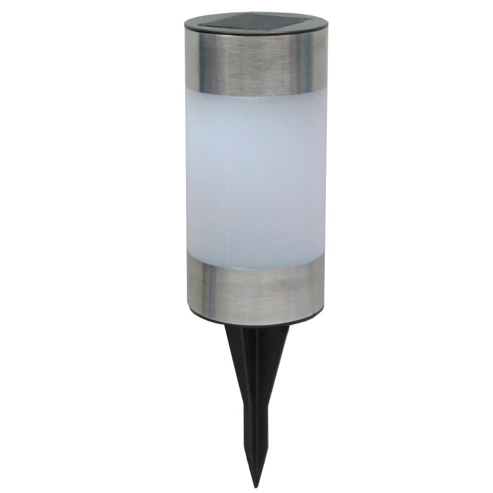 月陽圓柱太陽能充電式自動光控LED庭園燈草坪燈插地燈(5013B)