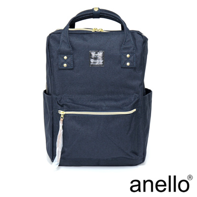 anello 獨特混色花紋方型後背包 深藍色