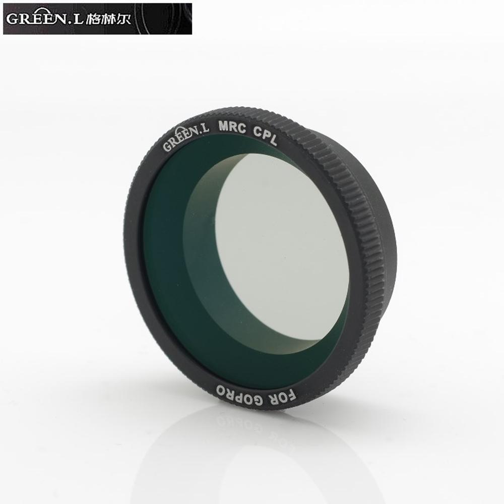 GREEN.L副廠運攝影機16層多層膜CPL偏光鏡(適部分GOPRO和部分SJCAM)