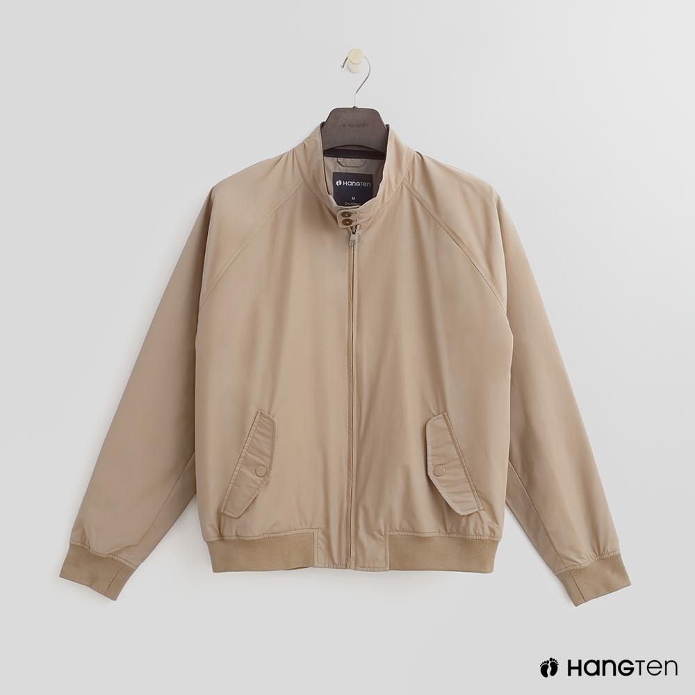 Hang Ten - 男裝 - 帥氣立領夾克外套 - 卡其