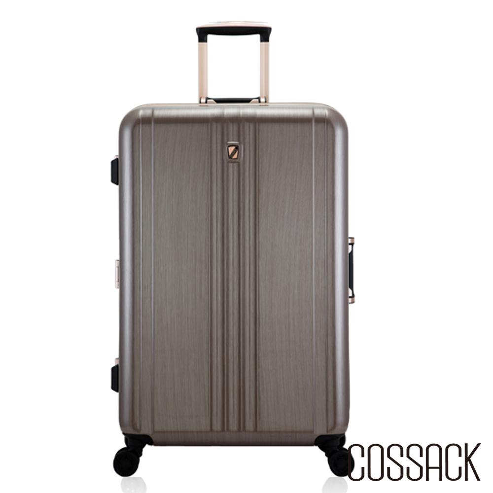 Cossack-CLASSIC經典-28吋PC鋁框行李箱- 金色髮絲