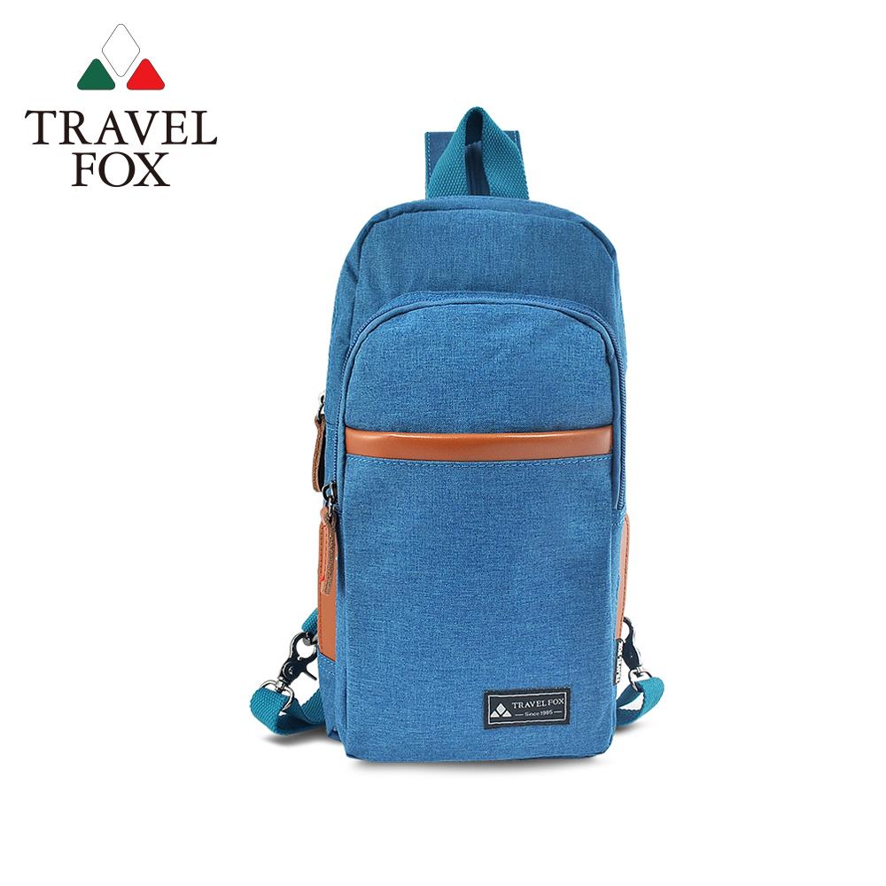 TRAVEL FOX 旅狐包-  隨性本色 單肩雙肩二用輕巧後背包- 牛仔藍