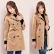 【白鵝buyer】韓國製 麂皮絨羊羔毛風衣外套(三色任選)