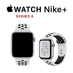 Apple Nike+ S4 GPS+網路 40mm 銀色鋁金屬錶殼搭白色運動型錶帶