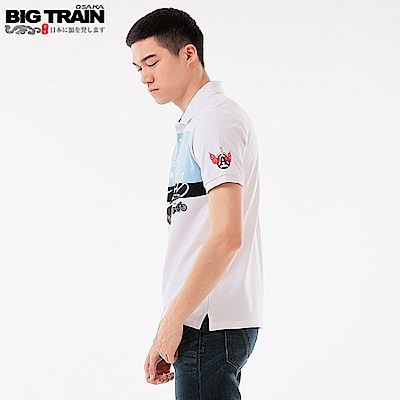 BigTrain配色休閒POLO衫-男-白色