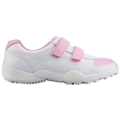 POSMA高爾夫球鞋 球鞋 時尚優雅 透氣舒適 女童鞋  配POSMA鞋包 2合1清潔刷 高爾夫球毛巾(23cm/EU36) GSH007WPNK
