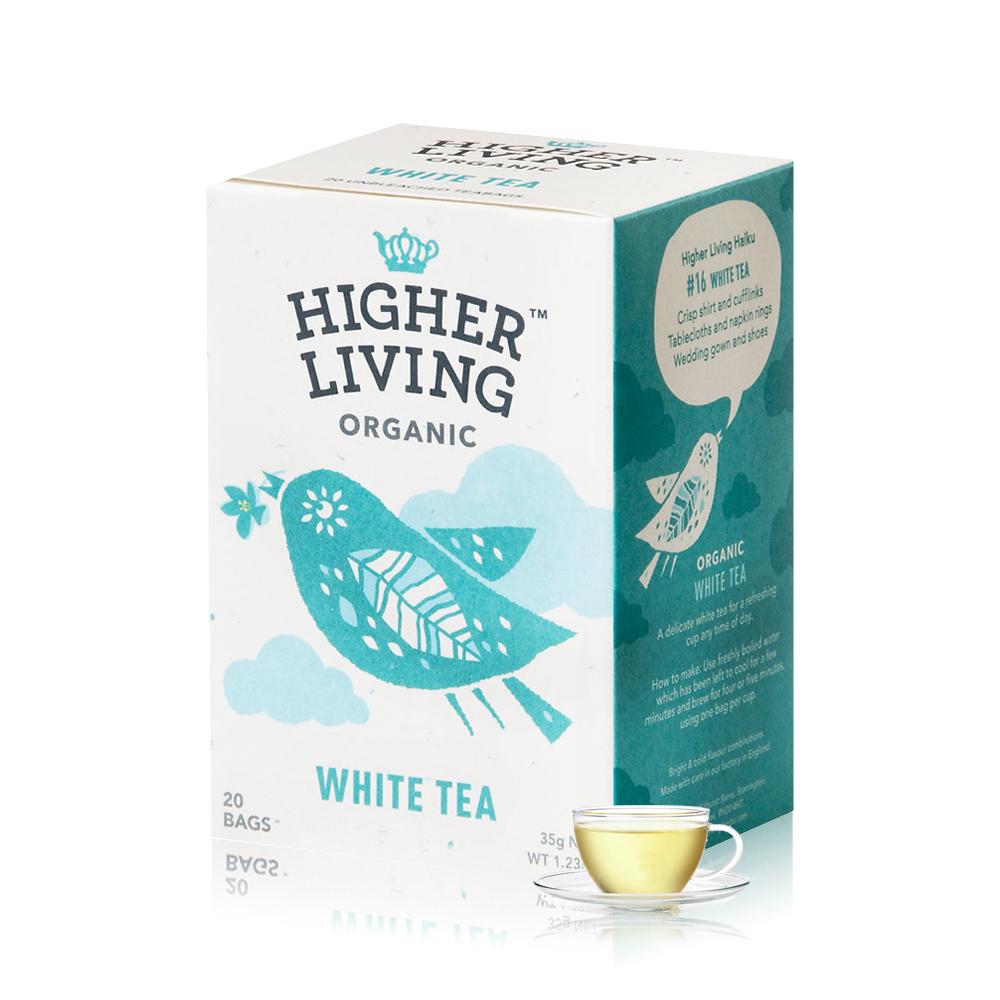 699免運-英國HIGHER LIVING 有機經典白茶 20包共35g