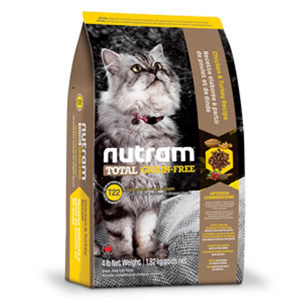【NUTRAM】紐頓T22無穀挑嘴全齡貓(火雞+雞肉)4lb/1.82kg