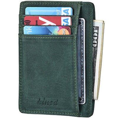 《Kinzd》防盜證件卡夾(綠色)