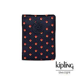 Kipling 紅黃幾何圖騰收納卡夾-PASSPORT HOLDER