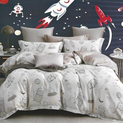 LAMINA 喵遊太空 100%天絲枕套床包組 加大