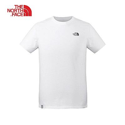 The North Face北面男款白色吸濕排汗短袖T恤|3VRCFN4