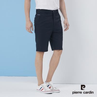 Pierre Cardin皮爾卡登  男裝 彈性平口休閒短褲-藍(5217961-38)