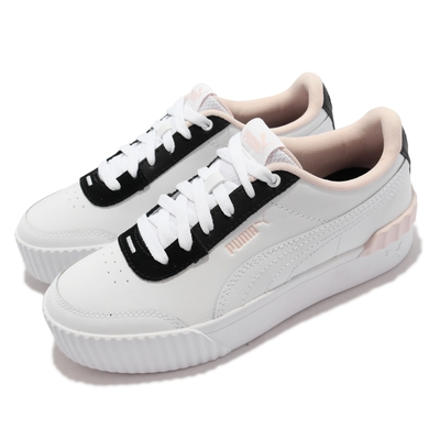 Puma 休閒鞋 Carian Lift 簡約 復古 女鞋 海外限定 人造皮革 街頭風 修飾腿型 白 黑 373031-14