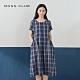 【MOSS CLUB】日系休閒寬鬆格紋口袋-洋裝(二色) product thumbnail 1