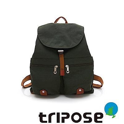 tripose MEMENTO系列微皺尼龍輕量防潑水後背包-大(暗雲杉綠)