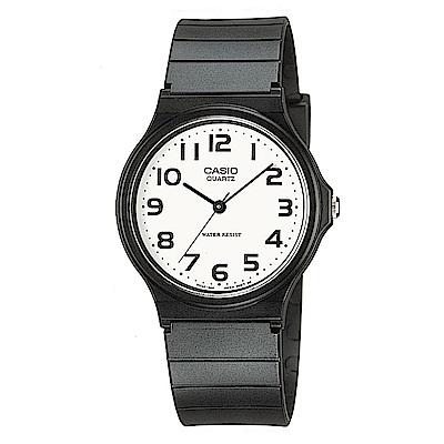 CASIO 超輕薄感數字錶(MQ-24-7B2)-白面黑字