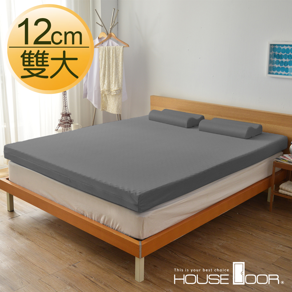House Door 大和防蹣抗菌表布 12cm波浪型竹炭記憶床墊-雙人加大6尺
