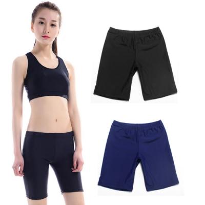 Biki比基尼妮,M-3L游泳配備件泳褲五分泳褲(多色)