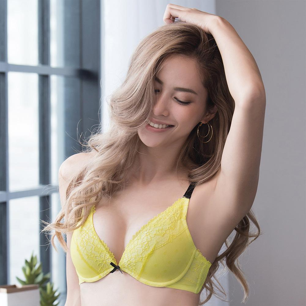 莎薇-AIR COOL 系列 D罩杯內衣(夏日黃)冰涼透氣