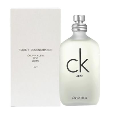 CK one中性淡香水 200ml (tester/環保盒包裝/試用品)-快速到貨