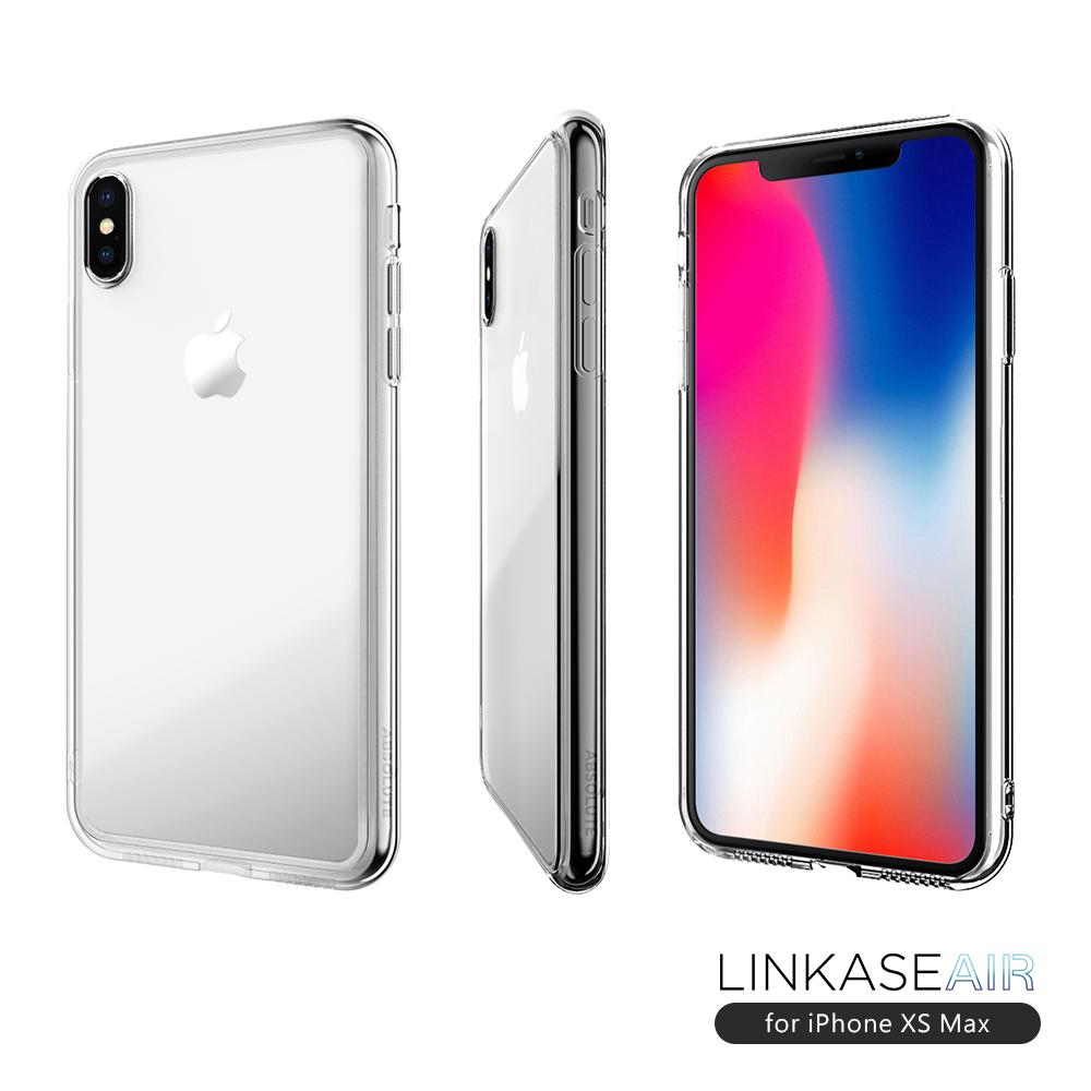 LINKASE AIR iPhone XS Max 大猩猩9H康寧玻璃防摔保護殼-全透明