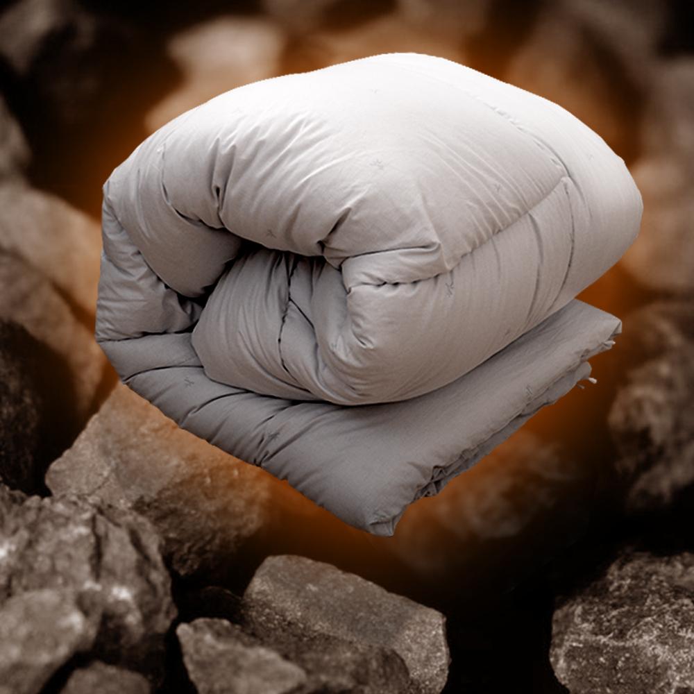 田中保暖試驗所 單人4.5x6.5尺 黑鑽石發熱 純棉竹炭被 新光竹碳纖維 台灣製造 竹碳