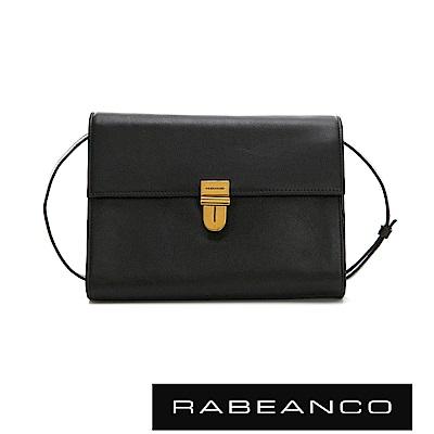 RABEANCO 時尚風琴式設計多夾層信封包  鋼琴黑
