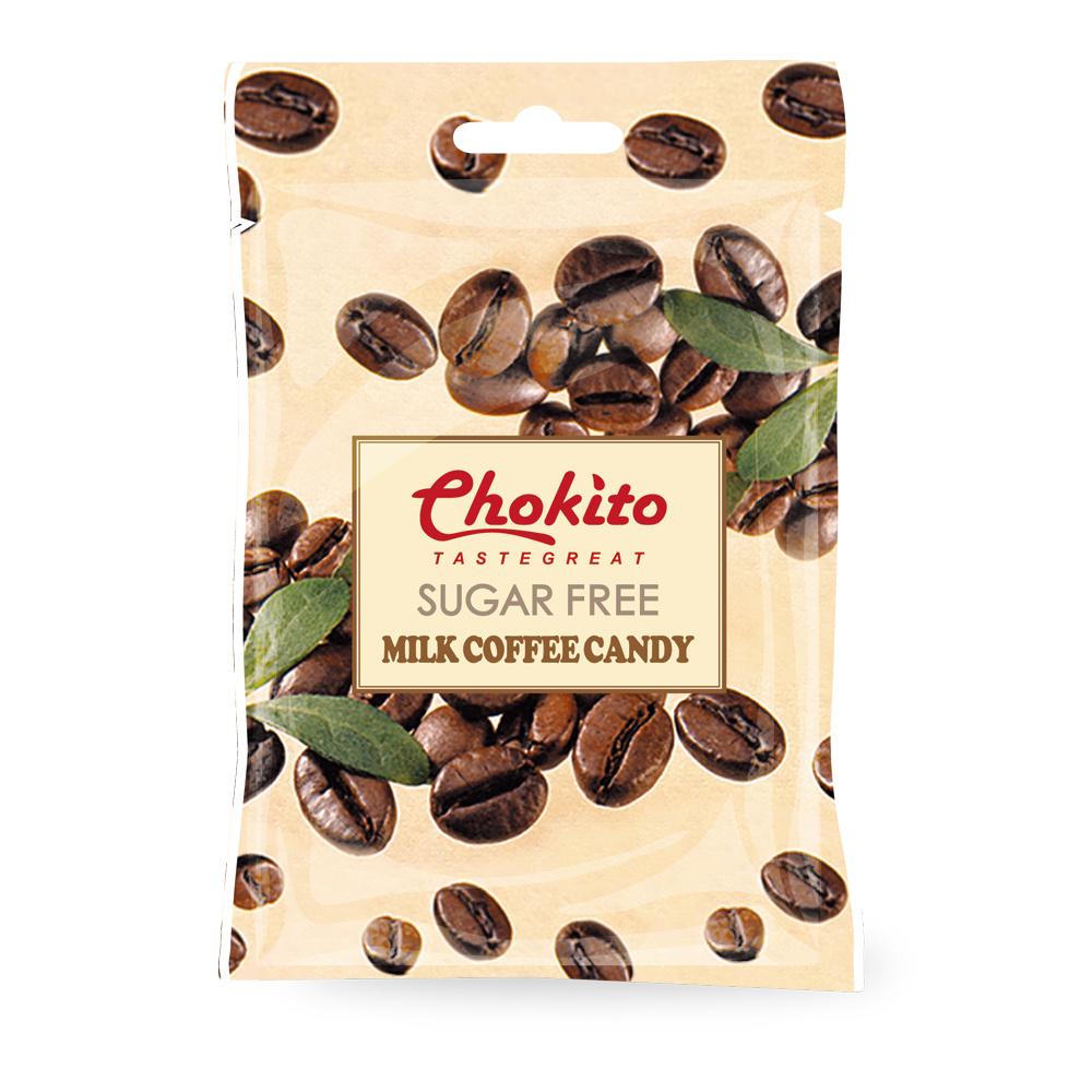 西班牙Chokito 無糖牛奶咖啡糖袋裝(30g)