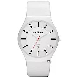 Skagen Grenen 陶瓷時尚石英手錶(233XLCLW)-白/37mm