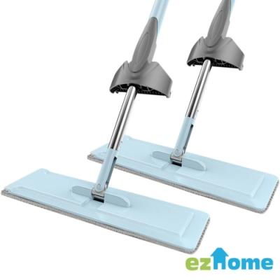 EZ HOME 免洗手刮刮樂平板拖把超值2入組