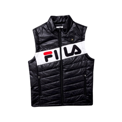 FILA 男鋪棉背心-黑色 1VET-5477-BK