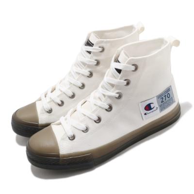 Champion 休閒鞋 Jelly Hi-Canvas 男女鞋 基本款 簡約 舒適 情侶穿搭 白 黑 USLS101502