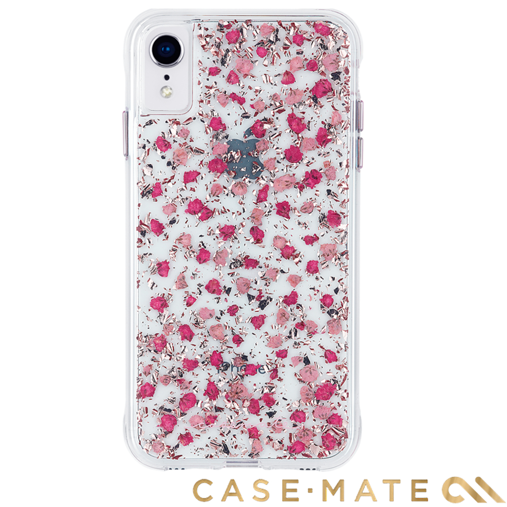 美國 Case-Mate iPhone XR Karat Petals 細緻碎花防摔殼-粉