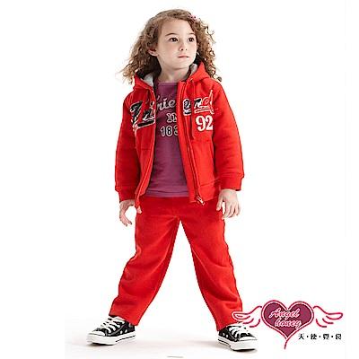 天使霓裳 運動甜心 Friend92連帽外套長褲兩件組童裝套裝(紅)