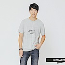 H:CONNECT 韓國品牌 男裝-方格標語T-shirt-灰