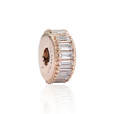 Pandora 潘朵拉 魅力玫瑰金鑲鋯 夾扣式純銀墜飾 串珠